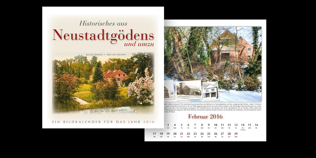 Historische Kalender Typ 30x30
