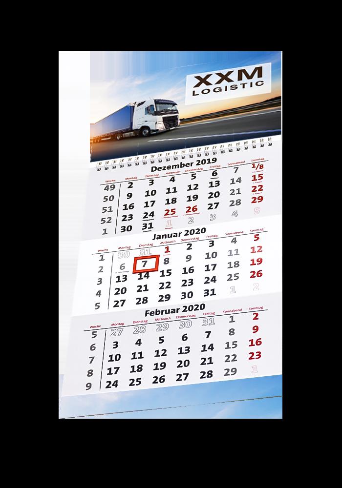Firmen-Kalender Typ 3-Monats-Kalender 3M21