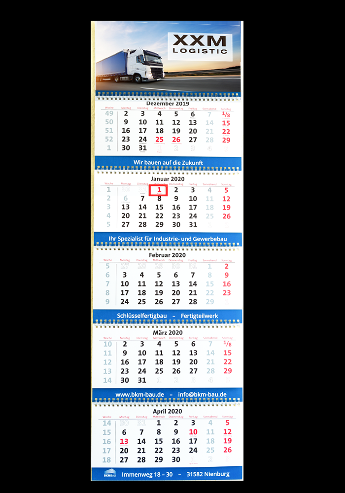 Firmen-Kalender Typ 5-Monatskalender 5M21