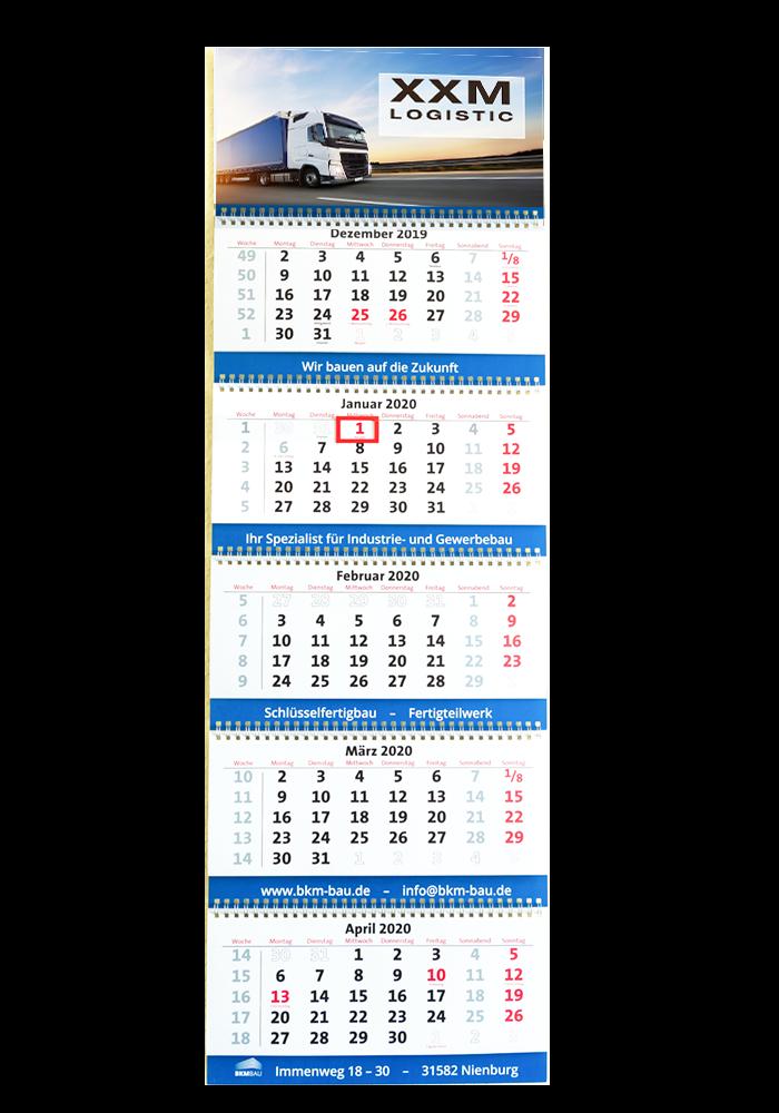 Firmen-Kalender Typ 5-Monatskalender 5M30