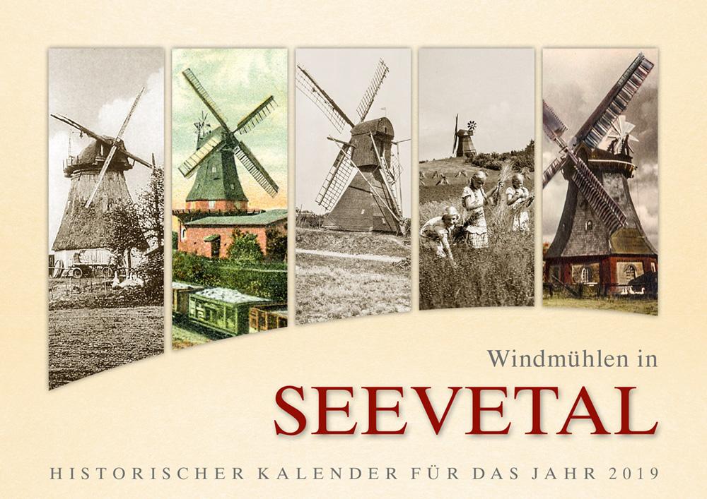 Windmühlen in Seevetal_– Historischer Kalender für das Jahr 2019